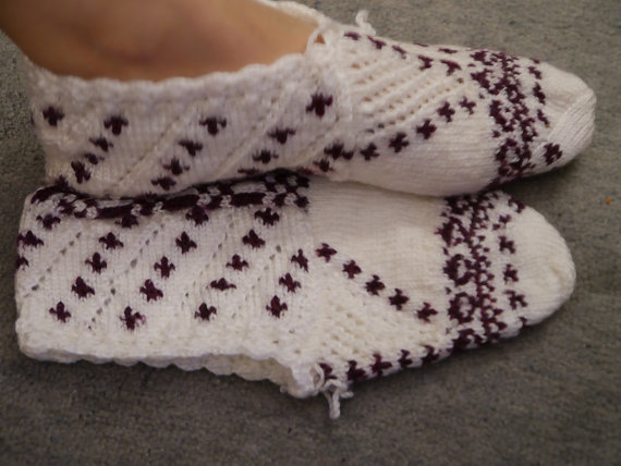 Handmade Slippers Turkish Knitted Slippers by MINETSYDESIGN Handmade Turkis...
