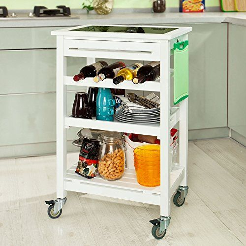 Kuechenrollwagen Kuechentrolley Küchenrollwagen Pinterest - küchenwagen mit schubladen