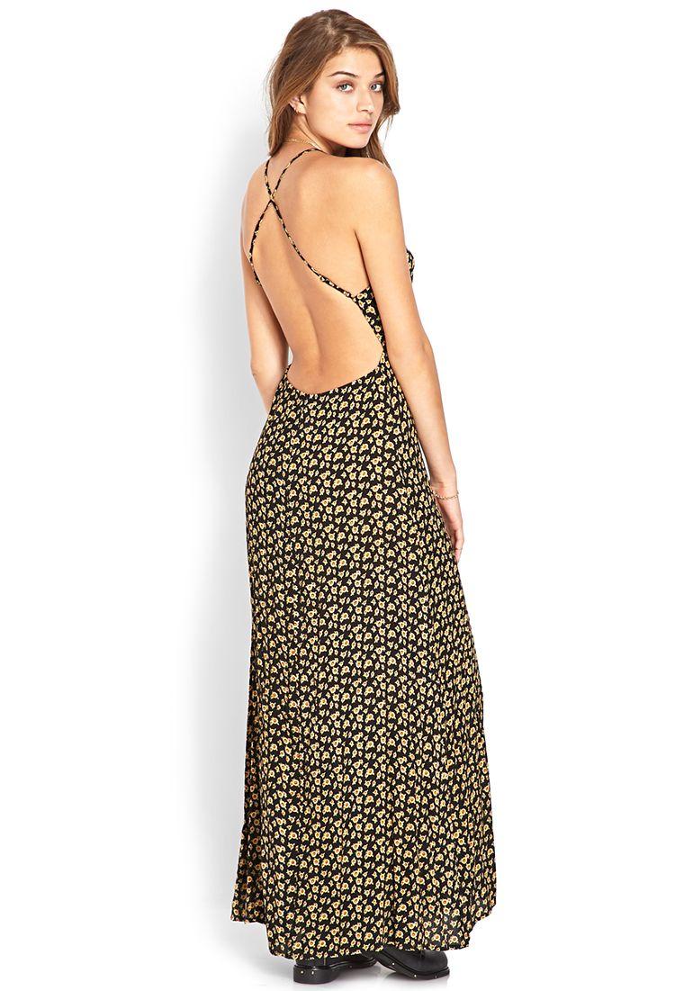 Sweet sunflower maxi dress forever style