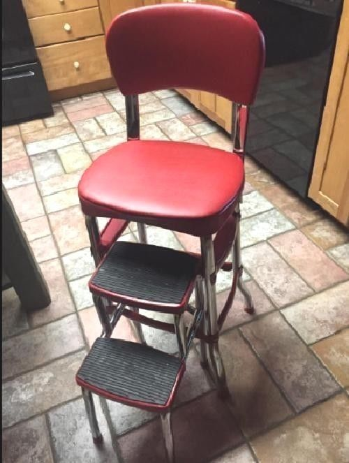 Details About Kitchen Folding Step Stool Chair Counter
