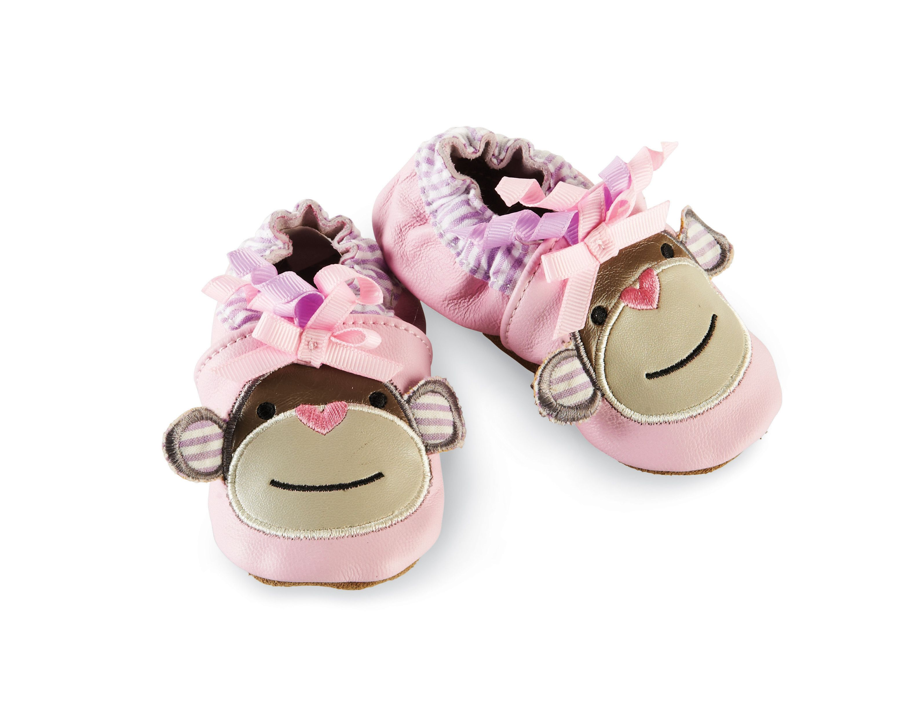 Pink Monkey Shoes monkey shoes baby pink