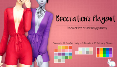 Beocration's Playsuit recolored by MissBunnyGummy.