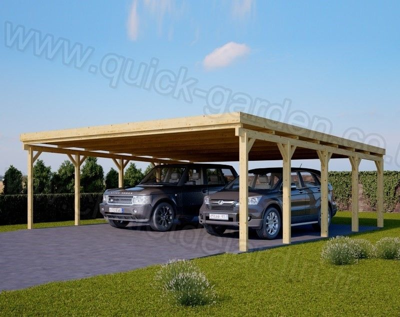 Home / Wooden Carport 20 x 20 Double Carport, Double