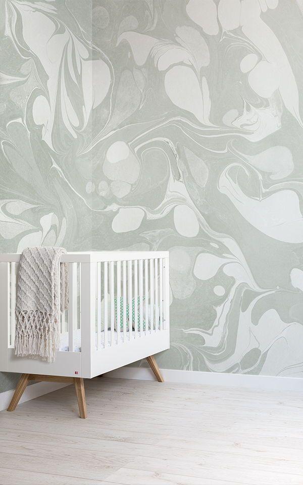 Swish Salbeigrüne Marmorierte Wandbild-Tapete Tapeten Wandbilder