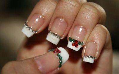 Christmas Nails Christmas Pinterest Unas Navidad Una - Decoracion-uas-navidad