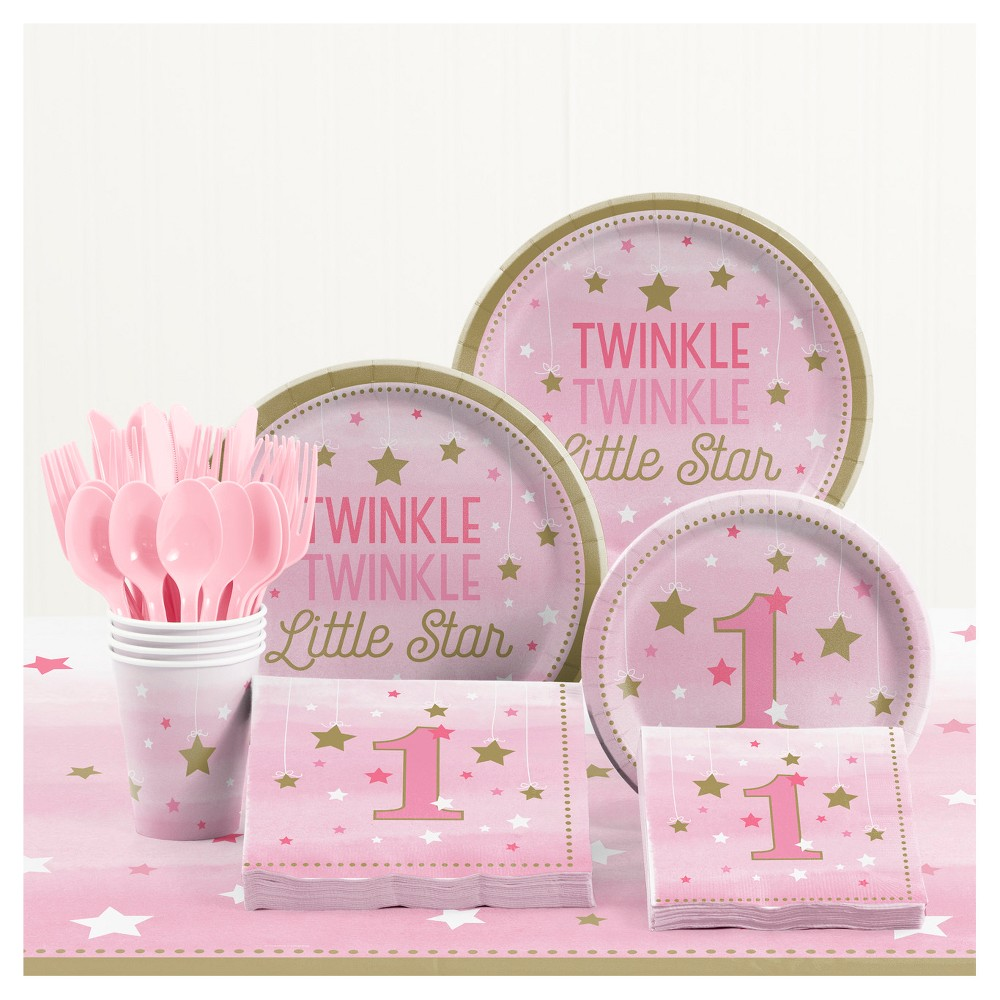 One Little Star Girl 1st Birthday Party Supplies Kit In 2019
