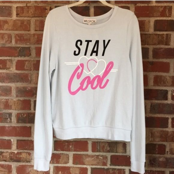 NWT WILDFOX Baggy Beach Jumper Brand new soft and comfy 'Stay Cool' jumper. Size large, loose-fitting. Has a worn look. 47% rayon 47% polyester 6% spandex. Wildfox Sweaters Crew & Scoop Necks