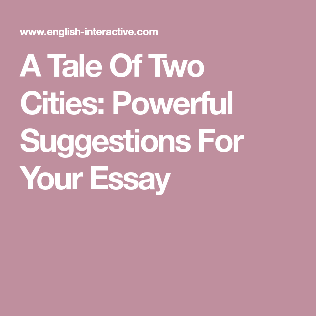 A Tale Of Two Cities Essay Examples - Free Research Papers on blogger.com