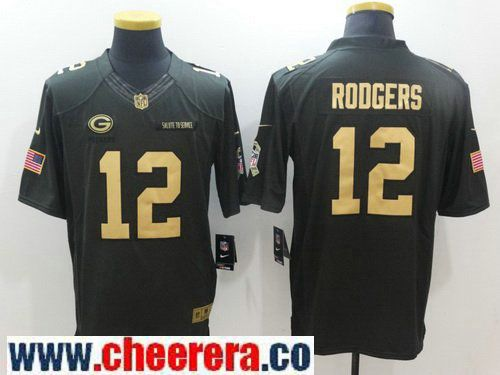 new arrival 7b771 15f8c nike green bay packers 12 aaron rodgers nike green salute to ...