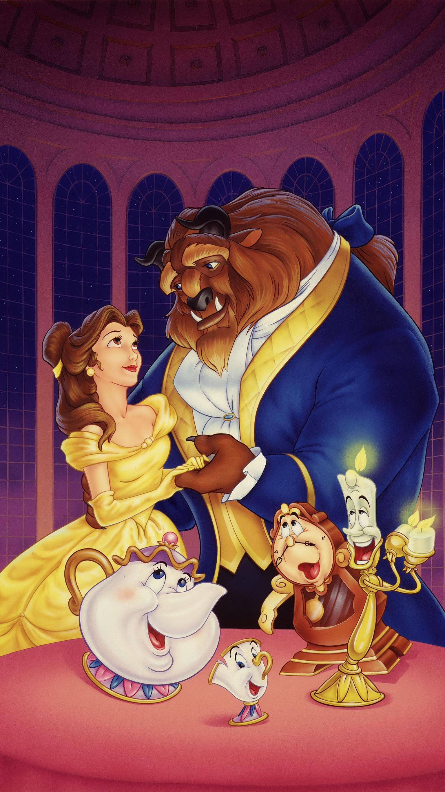 Beauty And The Beast 1991 Phone Wallpaper In 2020 Beauty The