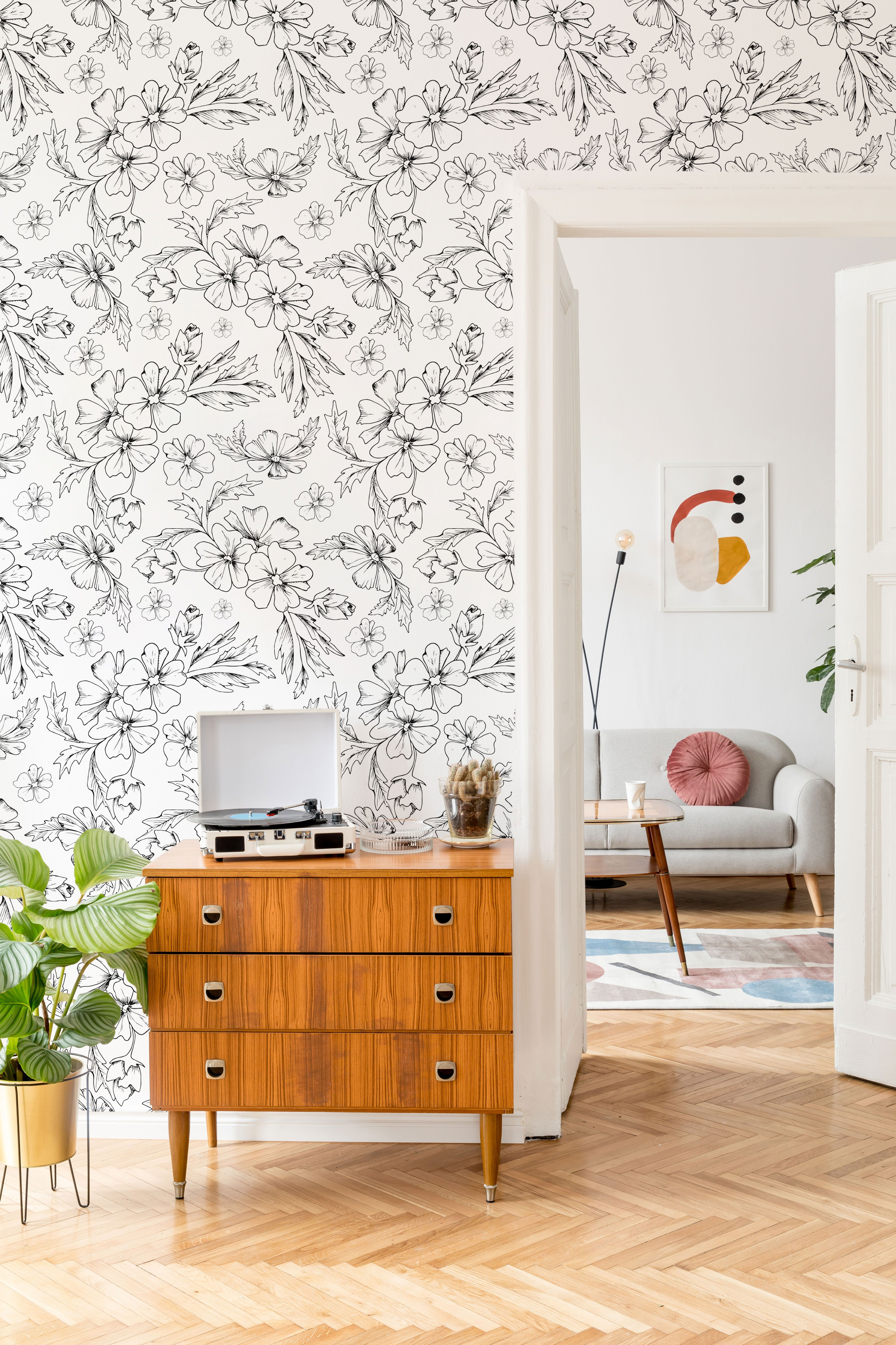 Pin On Home Decor Floral Removable Wallpaper Products