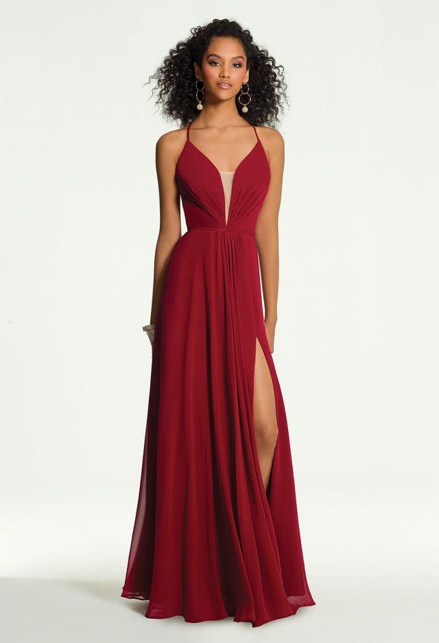 Plunge Illusion Halter Dress from Camille La Vie  54025c396