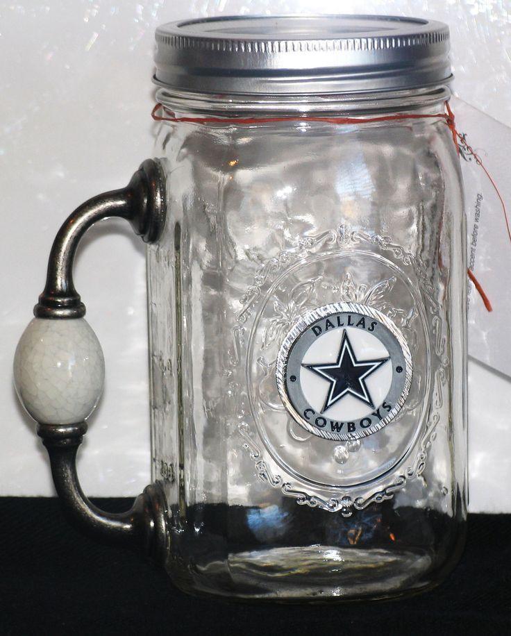 Redneck Wine Gl Cowboy Chugger Beer Mug Mason Jar W Handle
