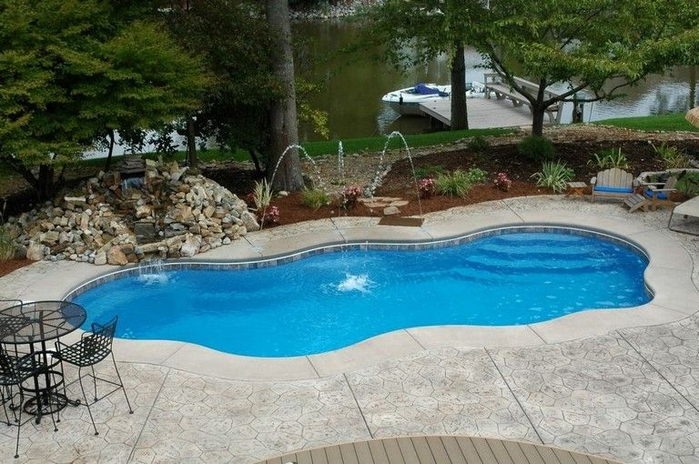 28 Stunning Backyard Pool Ideas On A Budget Backyard Pool Ideas Backyard Pool Small Backyard Pools Backyard Pool Designs