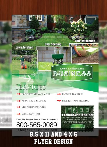 Lawn Landscaping Business Complete Marketing Designs