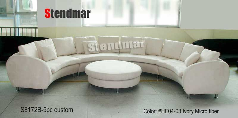 Modern Round Sofa 188 W Fabric Modern Round Sectional Sofa S8172b Round Sofa Curved Couch Spacious Sofa