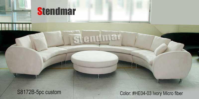 Modern Round Sofa 188 W Fabric Modern Round Sectional Sofa
