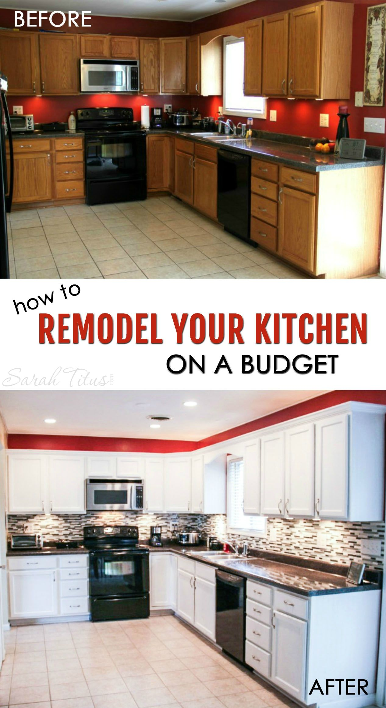 How To Remodel Your Kitchen On A Budget | Küche einrichten, Küche ...
