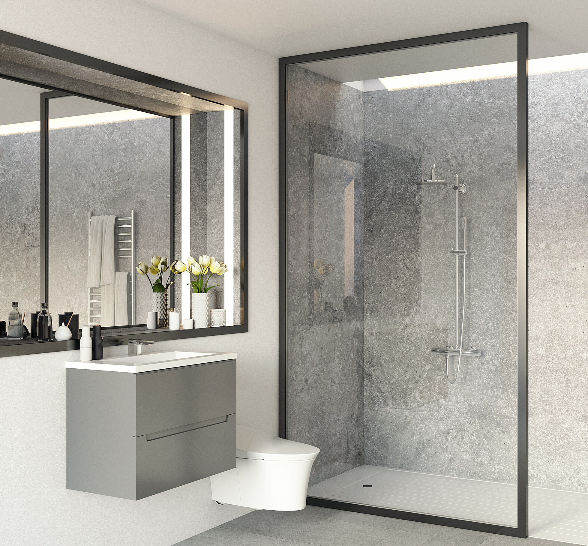 Bathroom Specialists Mr Wet Wall Australia Grout Free Wet Areas Bathroom Wall Panels Glass Shower Wall Bathroom Wet Wall