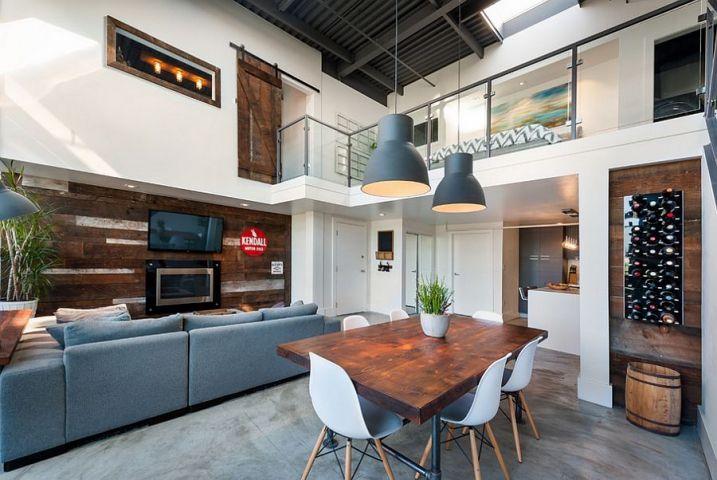 Décoration salon avec mezzanine   Salon   Pinterest   Salons
