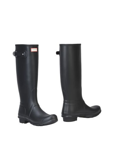 Hunter Women/'s Org Tall Knee High Gloss Rubber Rain Boots Waterproof BLK Sz 6 7