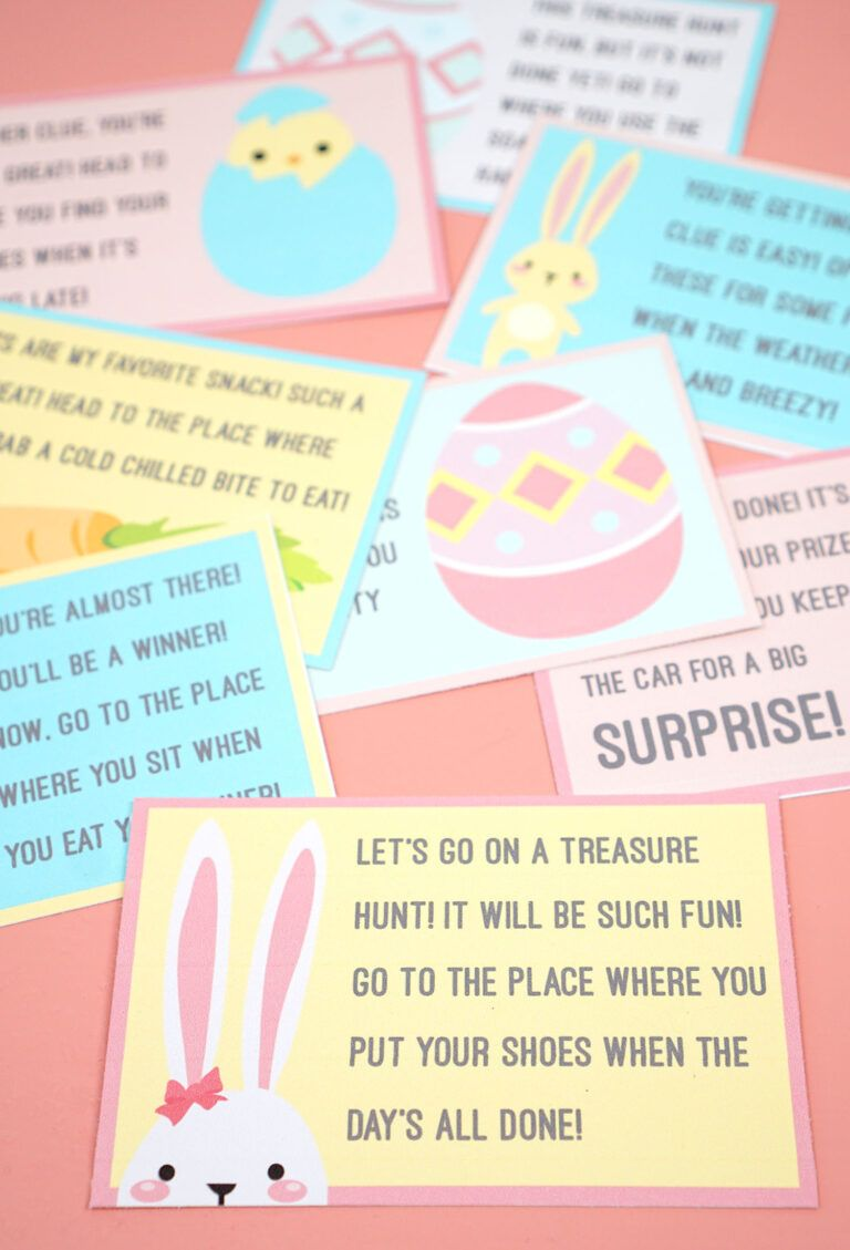 Easter Scavenger Hunt Free Printable! Happiness Is