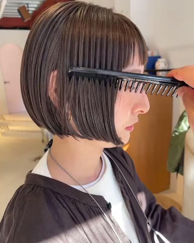シンプルボブ 代官山の美容室SLEEPY (スリーピー)スタイリスト内埜 晃宏の髪型・ヘアスタイル・