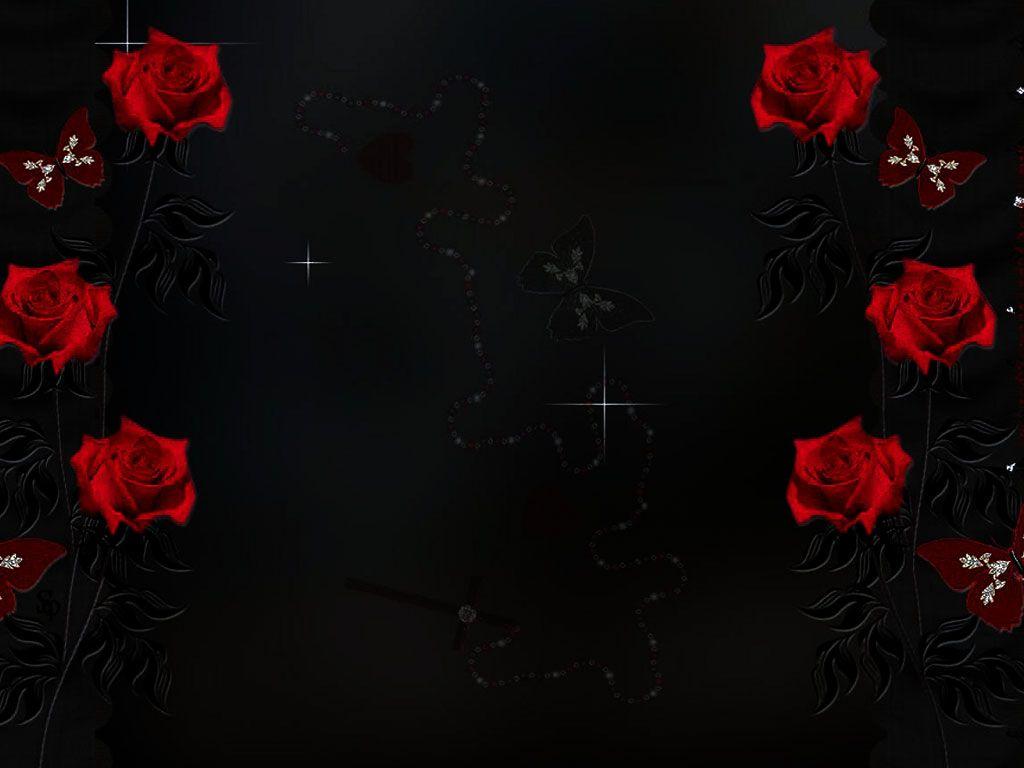 Red Rose Frame Design Ppt Backgrounds Rose Frame Frame Design Phone Background Patterns