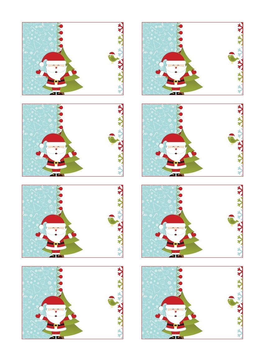 Etiquettes Cadeau De Noel Gratuites A Coller Etiquettes Noel