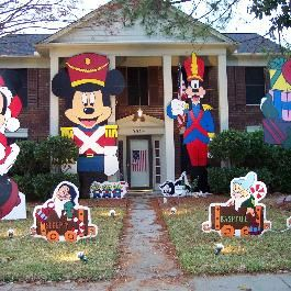 disney outdoor christmas decorations outdoor holiday decorations christmas lights our house - Christmas Yard Decorations