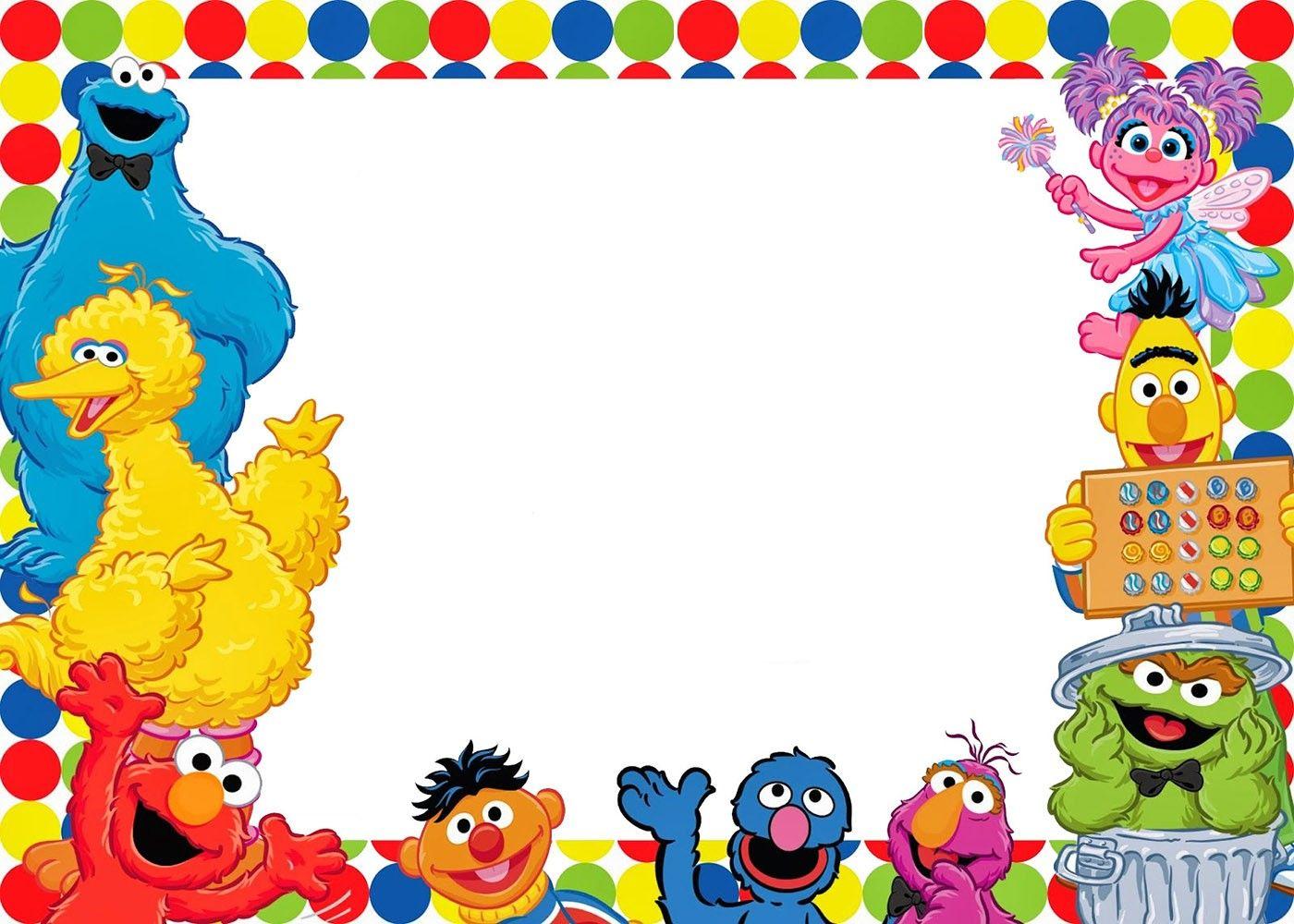 Invitacion Para Imprimir Gratis Sesame Street Sesame Street Birthday Sesame Street Invitations Sesame Street Birthday Invitations