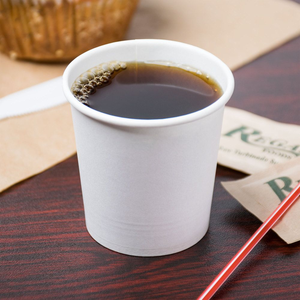 Choice 4 Oz White Poly Paper Hot Cup 50 Pack