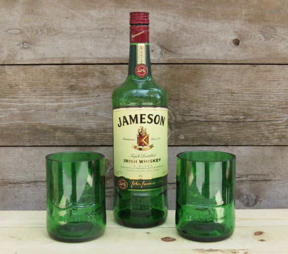 Upcycled Recycled Repurposed OOAK Eight Jameson Whiskey Recycled Glass Bottle Beads