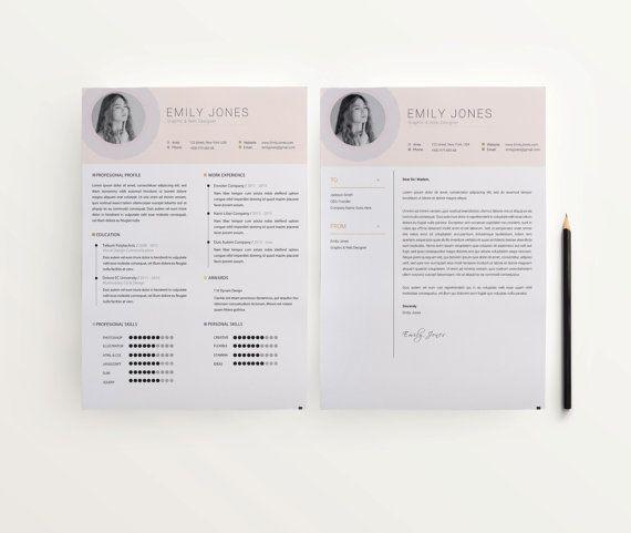 Resume template by DOPstudio on Etsy Cv Template, Resume Pinterest
