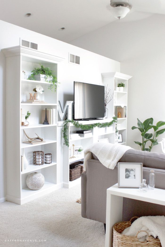 Our Ikea Hack :: DIY Built-In Bookcase