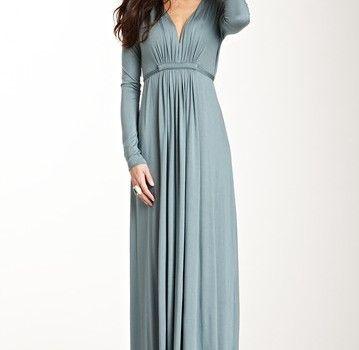 Maternity dress long sleeve maxi