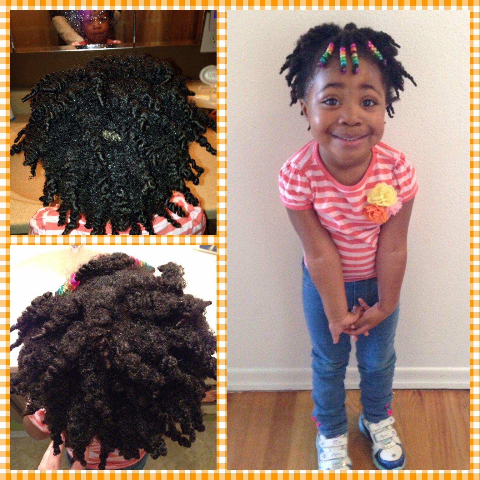 Cute Cute Cute Little Girl Twist Out On Natural Hair Cute