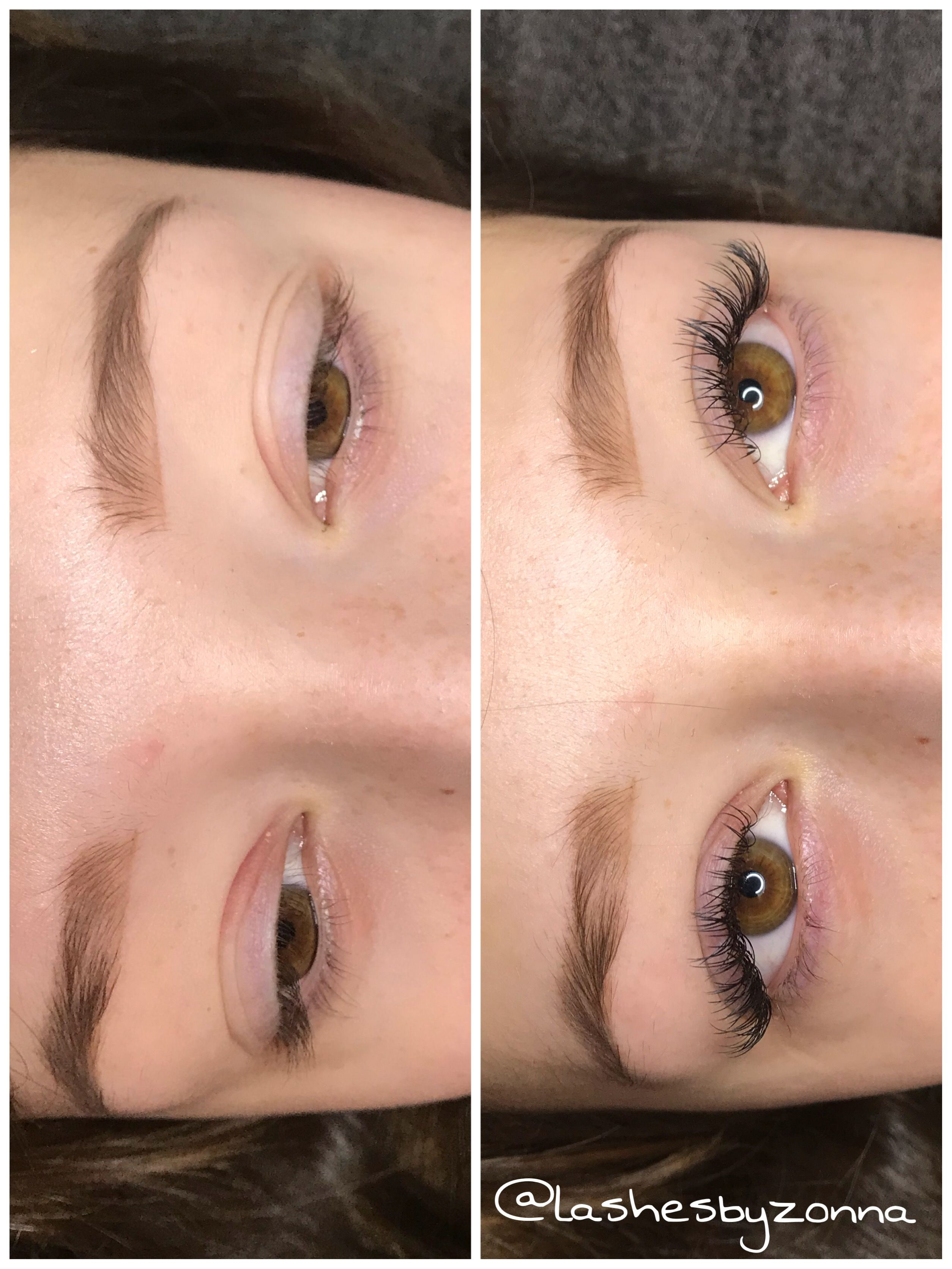 cb9c3931b47 Voor & na wimper extensions One by One -Lashes By Zonna | Before ...