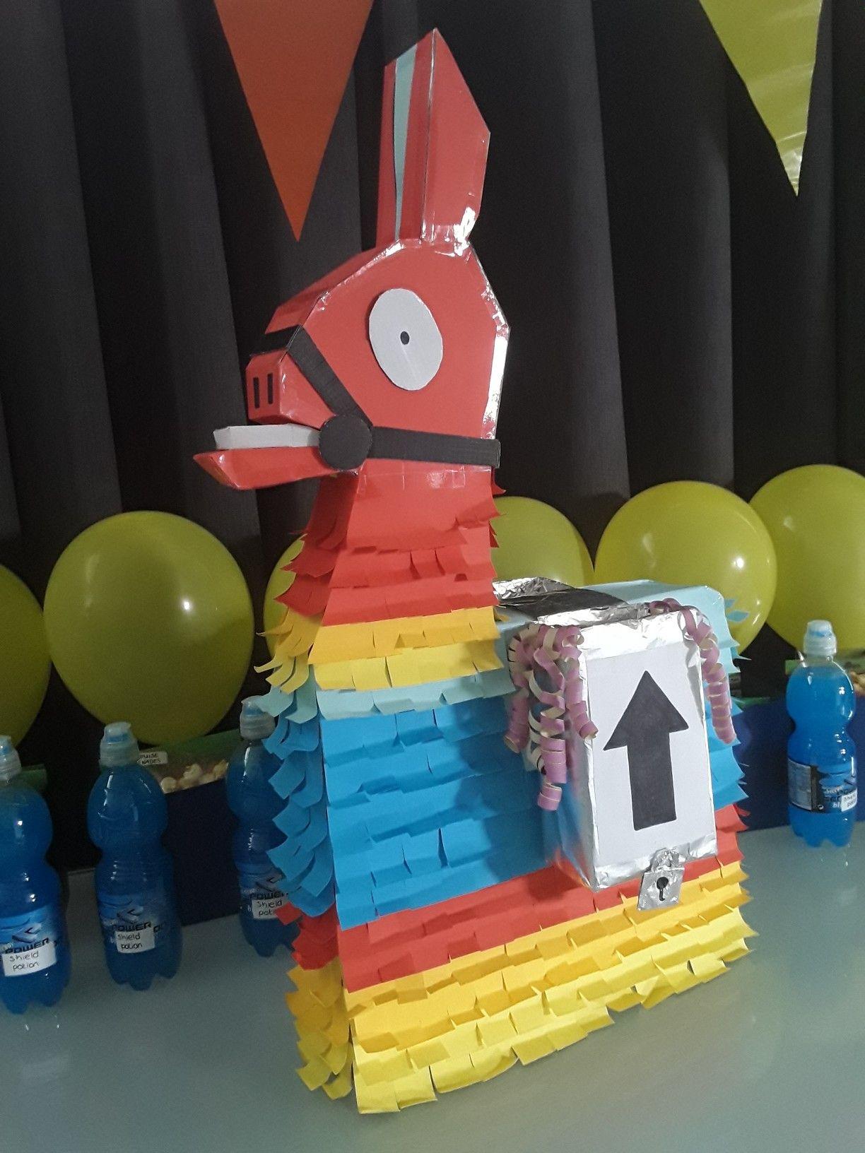 Fortnite Birthday Party Loot Llama Pinata Supply Drops Shield Potion
