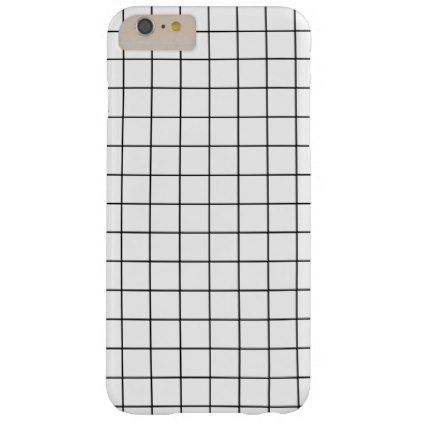 Minimal Black and White Checkbox Pattern Barely There iPhone 6 Plus ...