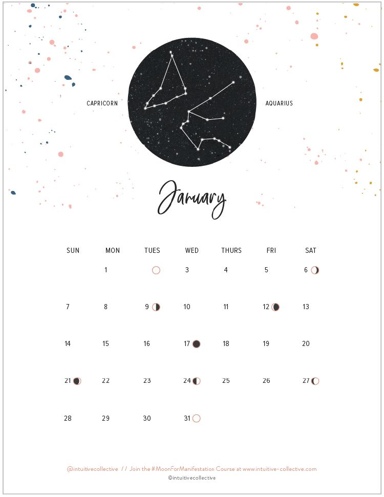 Free Printable Calendars  Moon Phases Free Printable And Zodiac