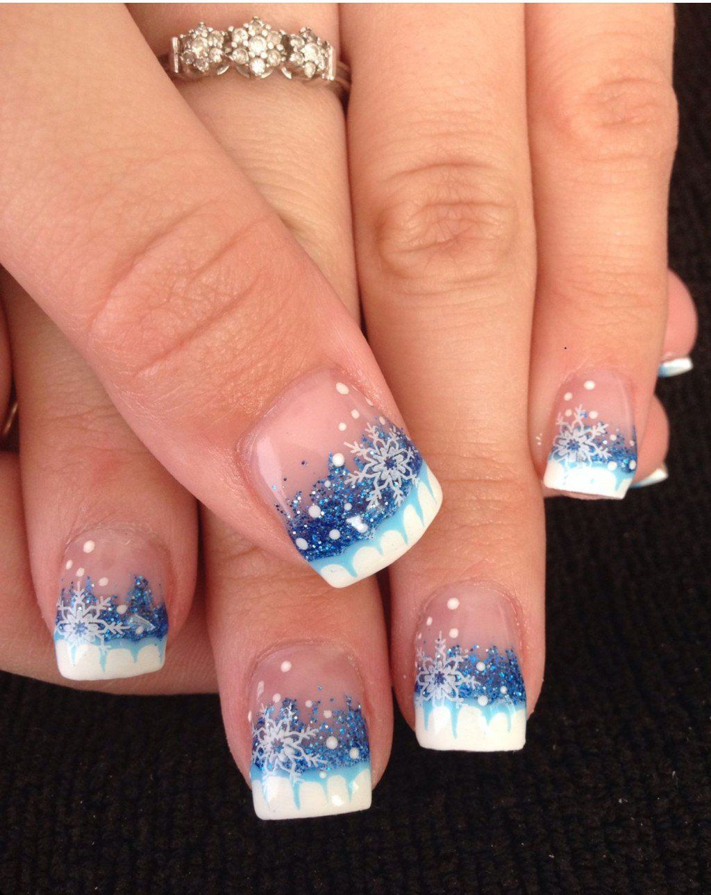 awesome holiday nail designs for short nails glitter nails