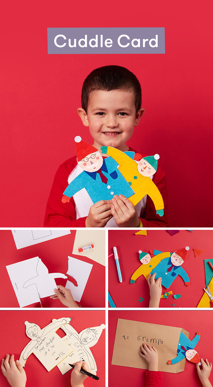 Create A Homemade Christmas Card With This Craft Idea. Your Kids Draw  Themselves On One