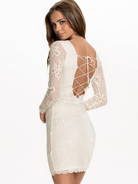 3b4182bef97 The Ls Crochet Dress - Nly Trend - Offwhite - Party Dresses - Clothing -  Women