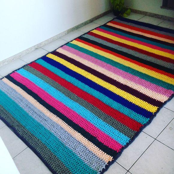 Tapete quadrado colorido