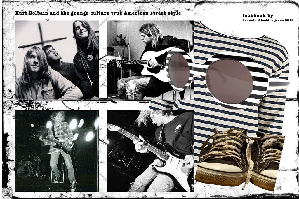 Kurt Cobain denim jeans icon and look books