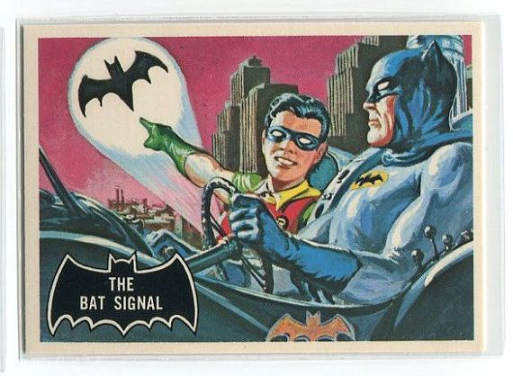 1989 Batman Robin The Bat Signal Trading Card
