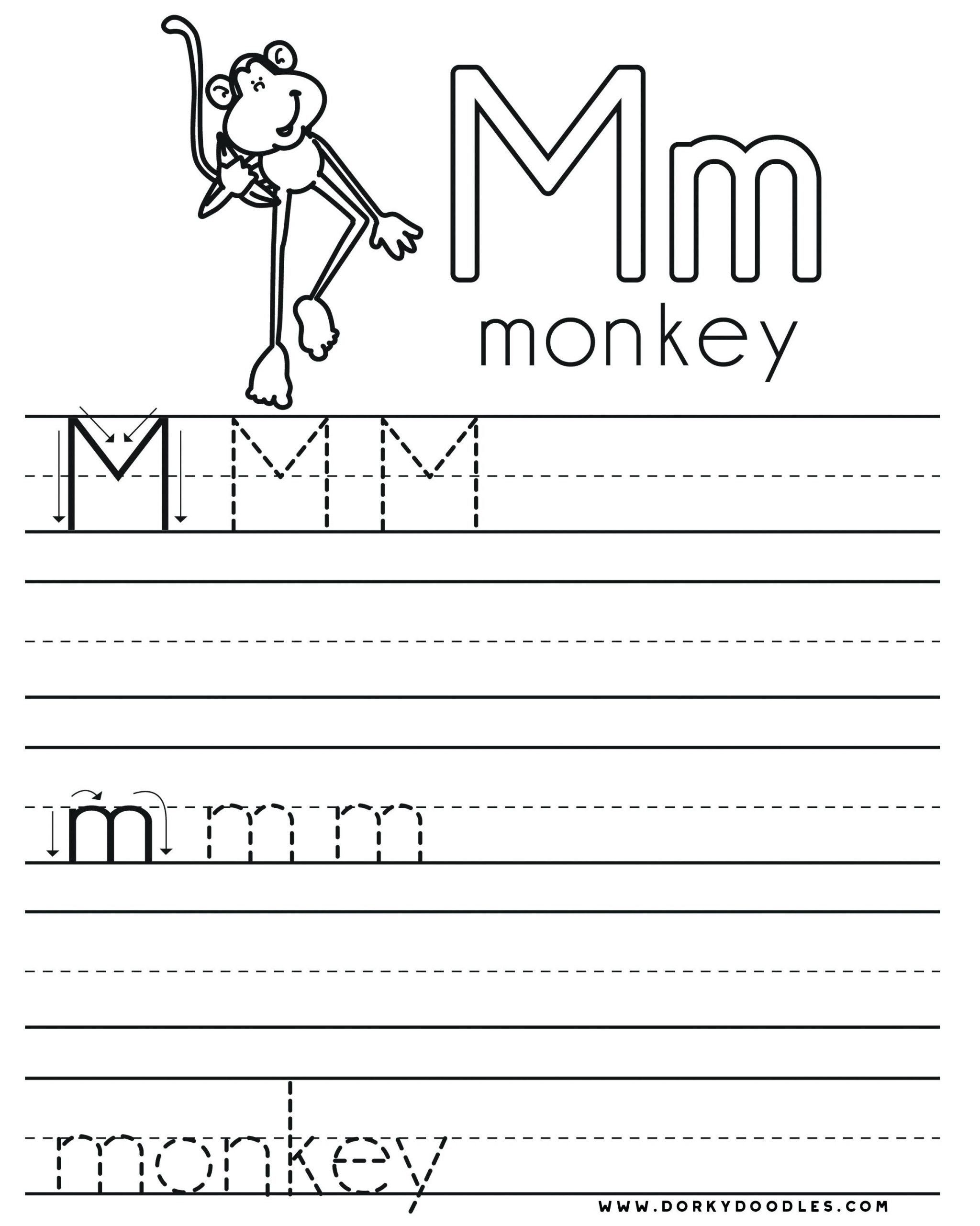 Letter M Worksheets Preschool Letter M Worksheet For