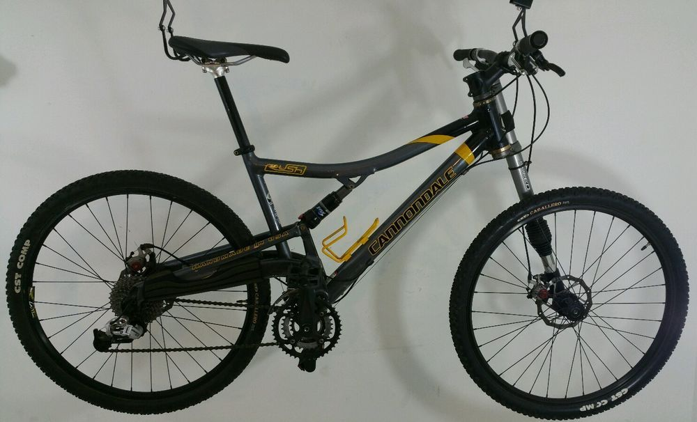 Cannondale rush 5 lefty used grey yellow full suspension mountain ...