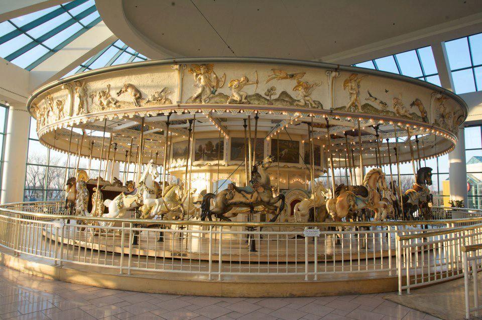the original carousel from roseland amusement park in